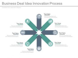 Business Deal Idea Innovation Process Control Arrow Diagram Flat Powerpoint Design