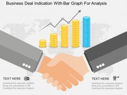 Business Deal Indication With Bar Graph For Analysis Flat Powerpoint Design