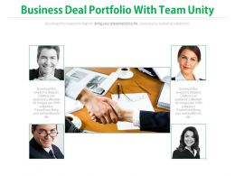 Business Deal Portfolio With Team Unity Flat Powerpoint Design