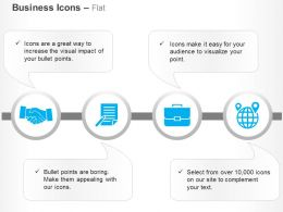 Business Deal Report Suitcase Global Navigation Ppt Icons Graphics