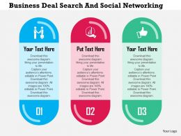 Business Deal Search And Social Networking Flat Powerpoint Design