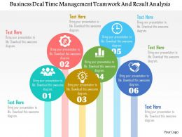 Business Deal Time Management Teamwork And Result Analysis Flat Powerpoint Design