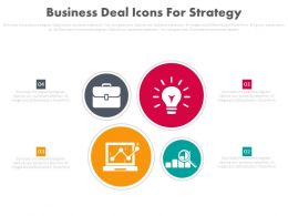Business Deal With Icons For Strategy Powerpoint Slides
