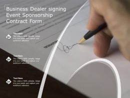 Business Dealer Signing Event Sponsorship Contract Form