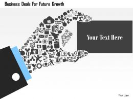 Business Deals For Future Growth Flat Powerpoint Design