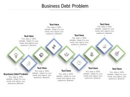 Business Debt Problem Ppt Powerpoint Presentation Portfolio Design Inspiration Cpb