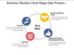 Business Decision Chart Stage Gate Product Development Process Cpb