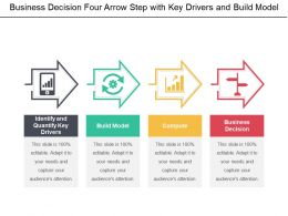 Business Decision Four Arrow Step With Key Drivers And Build Model