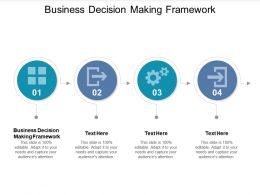 Business Decision Making Framework Ppt Powerpoint Presentation Summary Graphics Cpb
