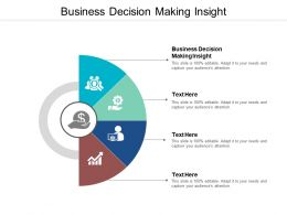 Business Decision Making Insight Ppt Powerpoint Presentation Model Graphics Template Cpb