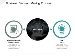 Business Decision Making Process Ppt Powerpoint Presentation Ideas Graphics Download Cpb