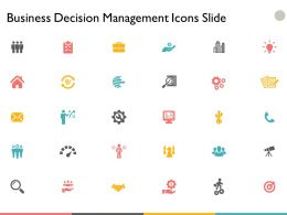 Business Decision Management Icons Slide Communication A28 Ppt Powerpoint Presentation File Example