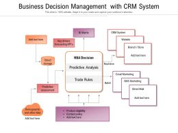 Business Decision Management With CRM System