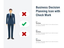 Business Decision Planning Icon With Check Mark