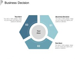 Business Decision Ppt Powerpoint Presentation Gallery Graphic Tips Cpb