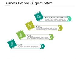 Business Decision Support System Ppt Powerpoint Presentation Gallery Good Cpb