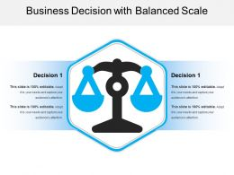 Business Decision With Balanced Scale