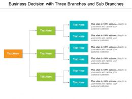 Business Decision With Three Branches And Sub Branches