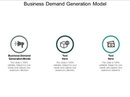 Business Demand Generation Model Ppt Powerpoint Presentation Slides Design Inspiration Cpb