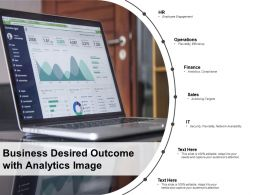 Business Desired Outcome With Analytics Image