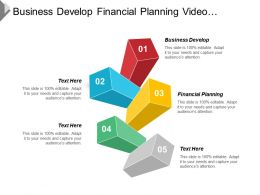 Business Develop Financial Planning Video Marketing Market Segmentation