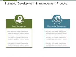 Business Development And Improvement Process Powerpoint Layout