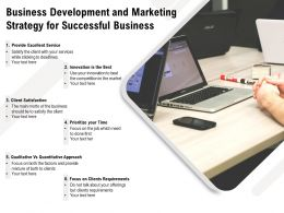 Business Development And Marketing Strategy For Successful Business