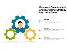Business Development And Marketing Strategy Icon With Gears