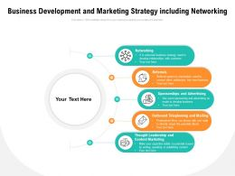 Business Development And Marketing Strategy Including Networking