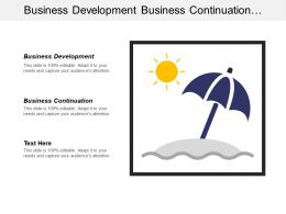 Business Development Business Continuation Operations Management Communication Skills Cpb