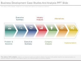 Business Development Case Studies And Analysis Ppt Slide