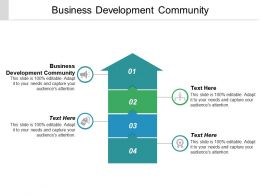 Business Development Community Ppt Powerpoint Presentation Icon Infographic Template Cpb