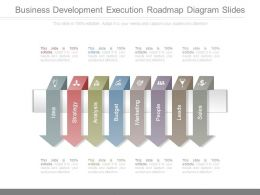 Business Development Execution Roadmap Diagram Slides