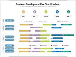 Business Development Five Year Roadmap