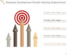 Business Development Growth Hacking Goals Arrows Ppt Design