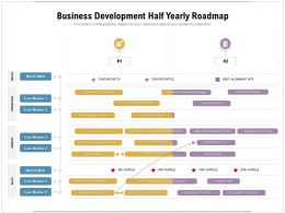 Business Development Half Yearly Roadmap