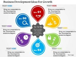 Business Development Ideas For Growth Flat Powerpoint Design