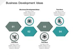 Business Development Ideas Ppt Powerpoint Presentation Ideas Graphics Pictures Cpb