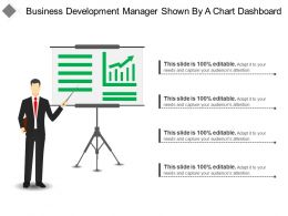 Business Development Manager Shown By A Chart Dashboard