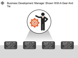 Business Development Manager Shown With A Gear And Tie