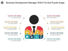 Business Development Manager With A Tie And Puzzle Image