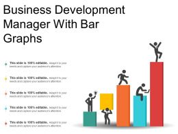 Business Development Manager With Bar Graphs