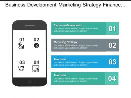 Business Development Marketing Strategy Finance Management Marketing Techniques Cpb