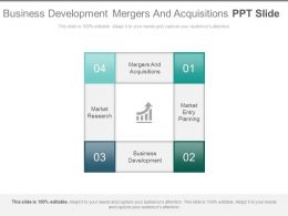 Business Development Mergers And Acquisitions Ppt Slide