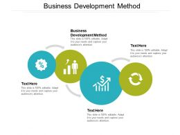 Business Development Method Ppt Powerpoint Presentation Professional File Formats Cpb