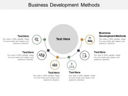 Business Development Methods Ppt Powerpoint Presentation Slides Portrait Cpb