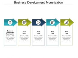 Business Development Monetization Ppt Powerpoint Presentation Professional Format Cpb