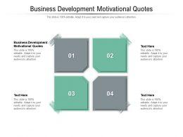 Business Development Motivational Quotes Ppt Powerpoint Presentation Summary Portfolio Cpb