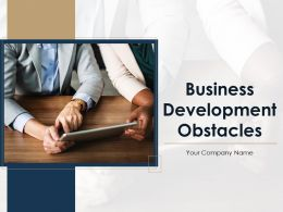 Business Development Obstacles Powerpoint Presentation Slides