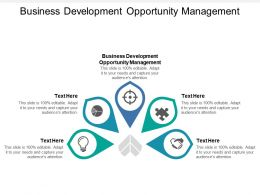 Business Development Opportunity Management Ppt Powerpoint Presentation Icon Cpb